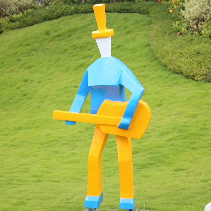 玻璃钢乐手雕塑,不一般的乐手!