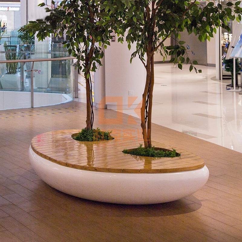木面玻璃钢树池坐凳,颜值与品质并存!