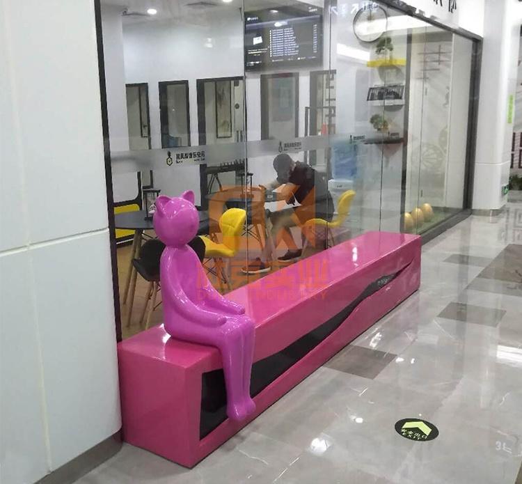 玻璃钢猫咪座椅
