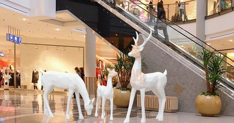 玻璃钢鹿雕塑,厂家直销!