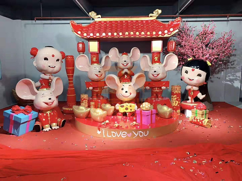鼠主题商场DP美陈