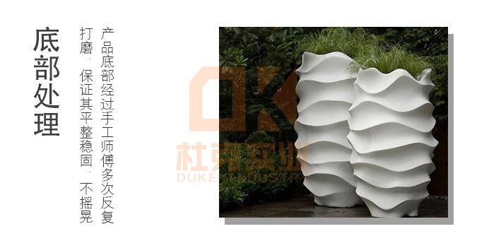 玻璃钢商场创意落地花盆