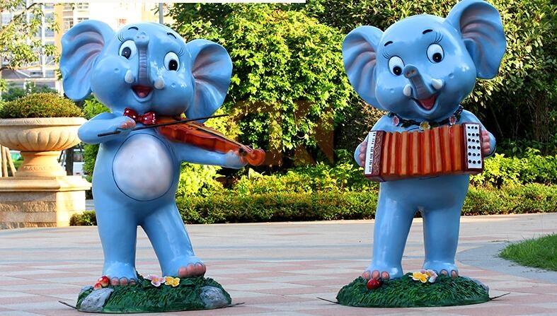 玻璃钢大象雕塑,这些大象雕塑你更喜欢哪种?
