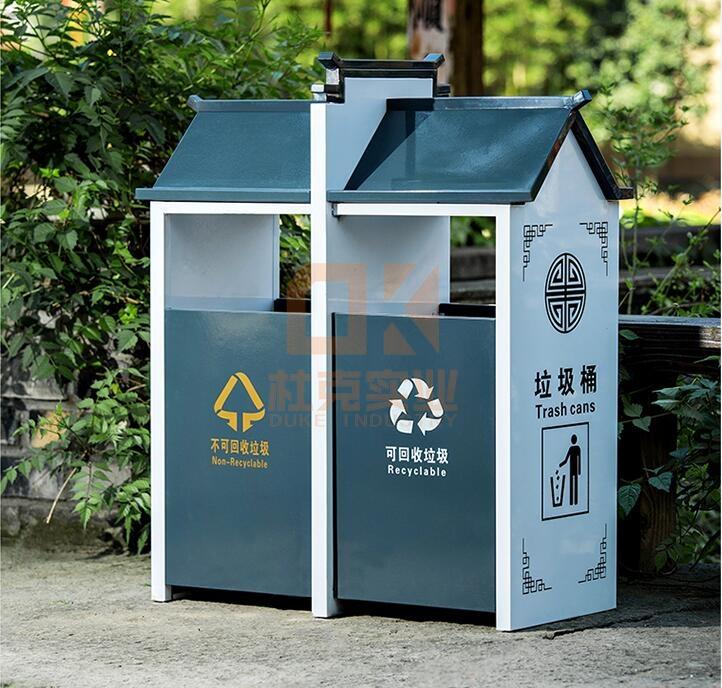 不锈钢复古创意垃圾桶