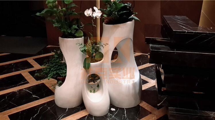 玻璃钢树洞花盆