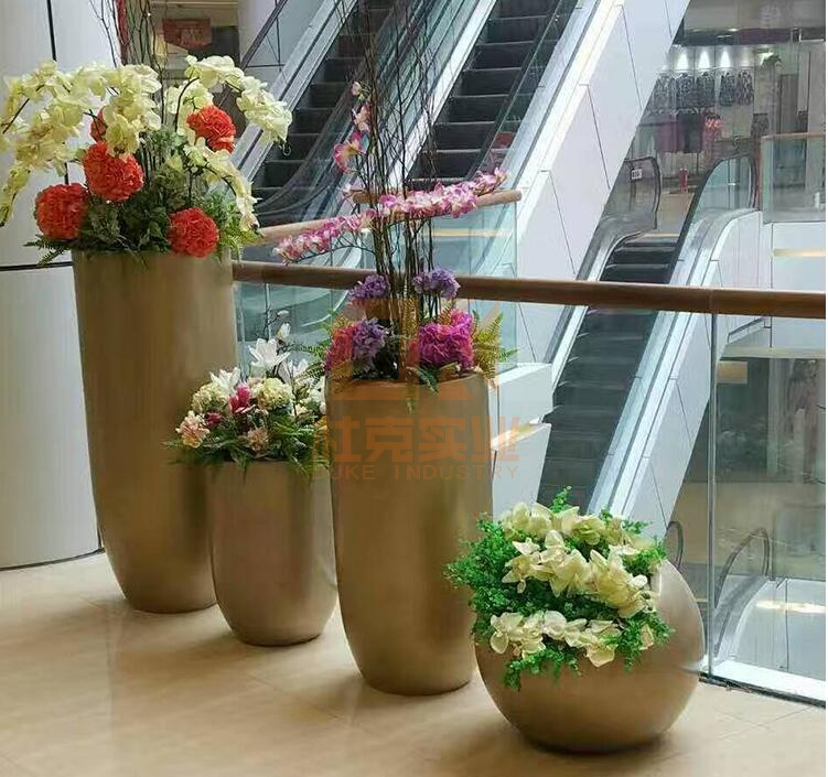 玻璃钢创意花盆组合