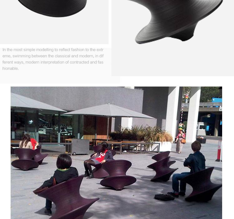 360度旋转玻璃钢不倒翁陀螺座椅