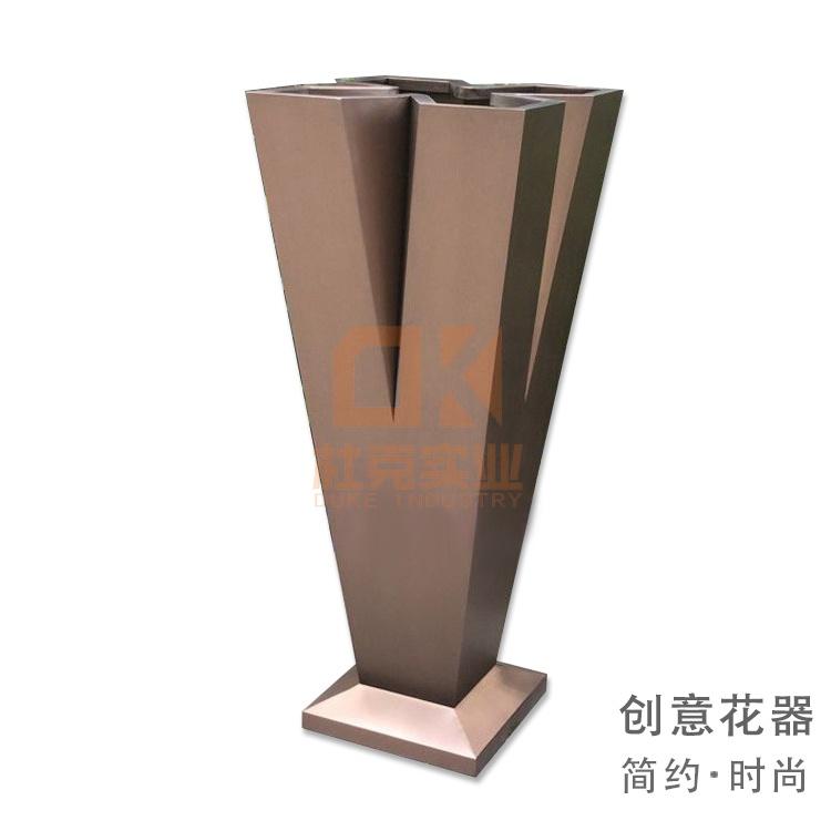不锈钢V形花器