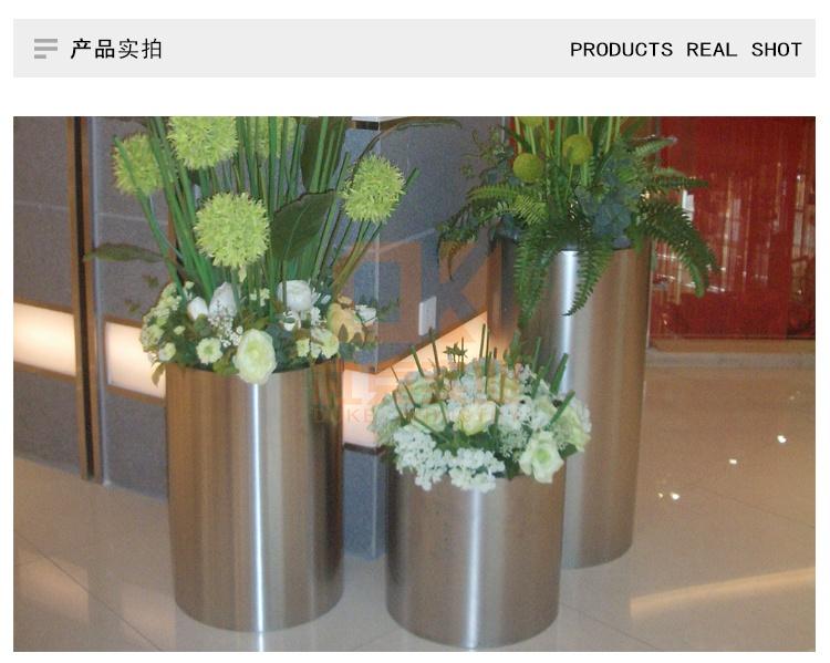 不锈钢圆柱花器