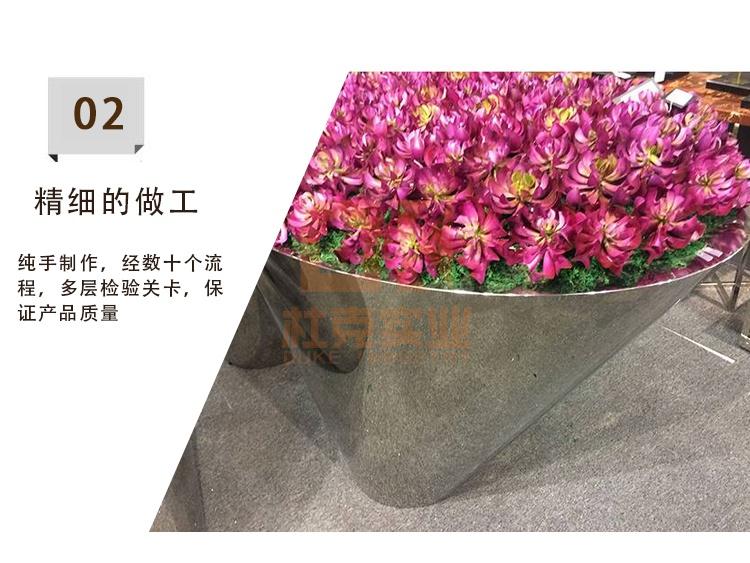 不锈钢敞口花器