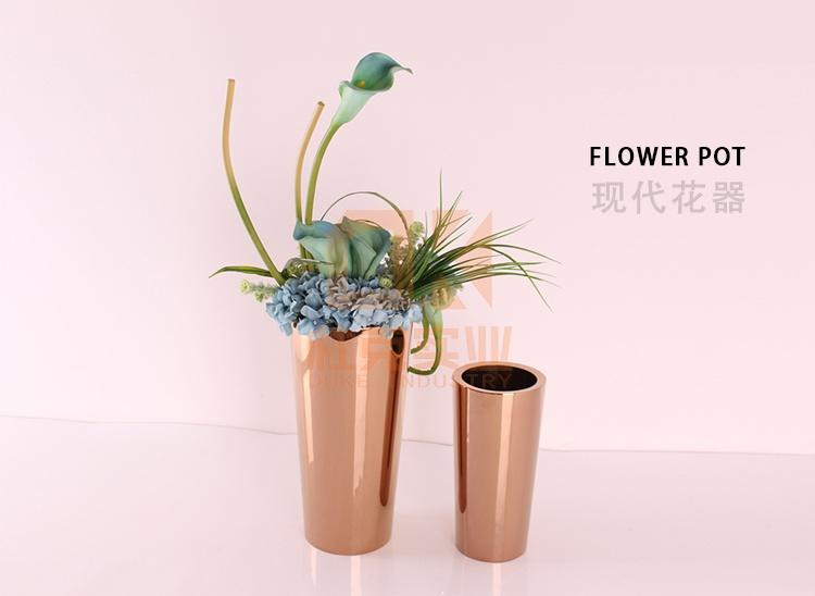 不锈钢圆锥花盆