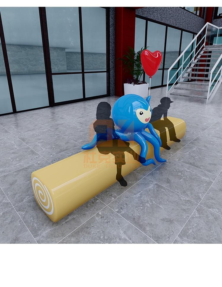 玻璃钢章鱼坐凳