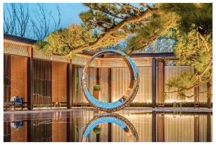 不锈钢圆环摆件