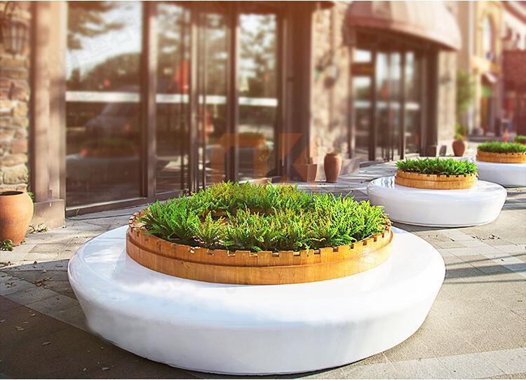 玻璃钢圆形树池坐凳
