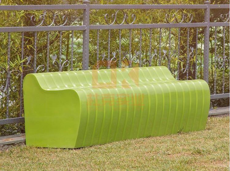 玻璃钢公园美陈休闲椅