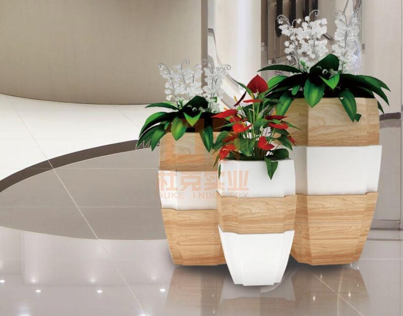 玻璃钢创意六棱花盆