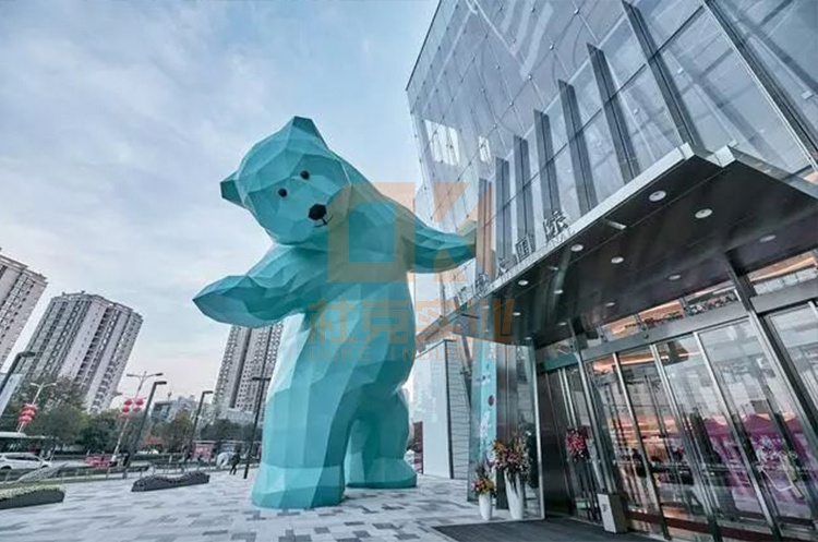 玻璃钢大型熊雕塑户外广场售楼部酒店摆件