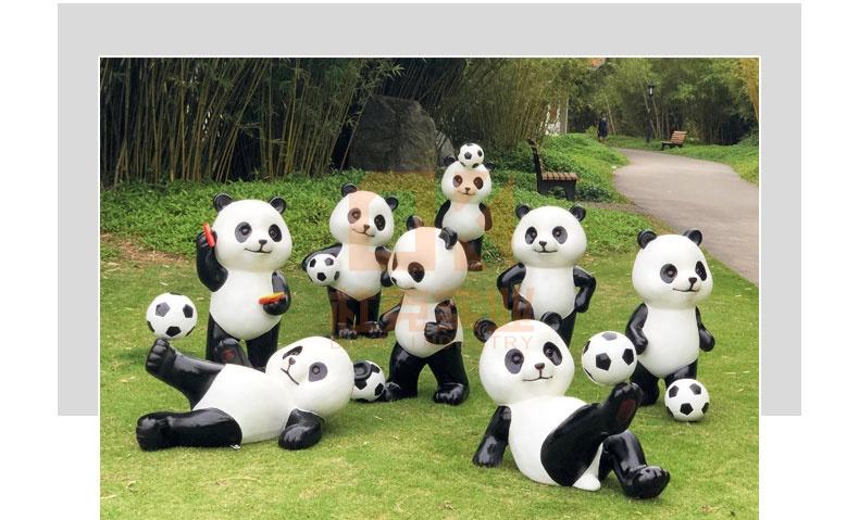 足球小将,国宝熊猫雕塑大行动!