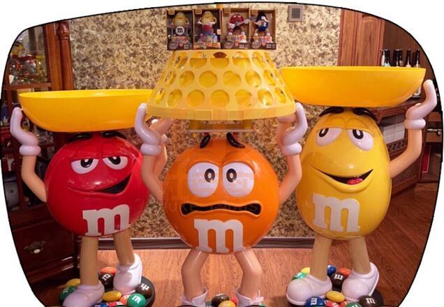 巧克力M豆雕塑摆件,儿童乐园网红款!