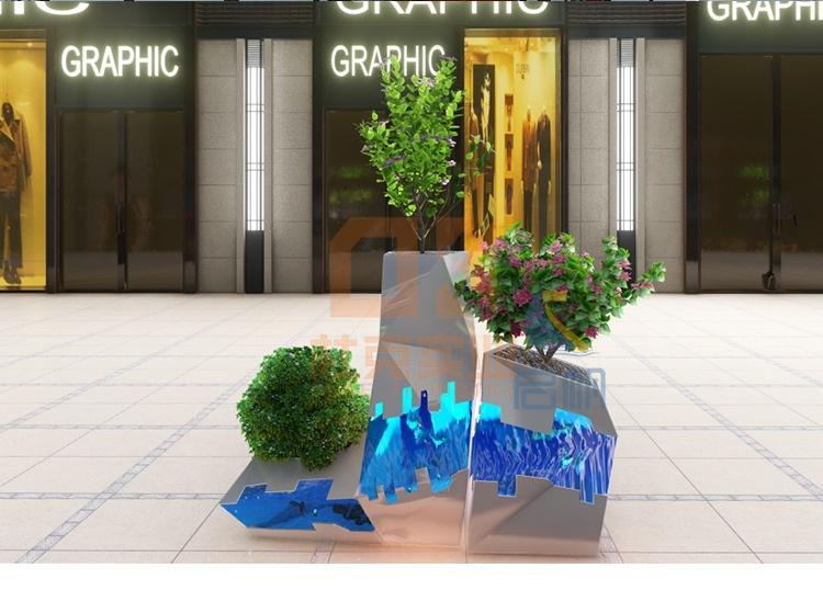 玻璃钢海洋菱形花盆