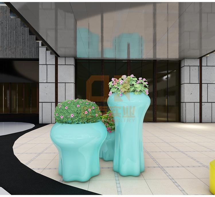 玻璃钢水母花盆