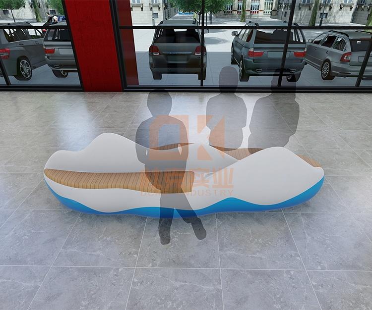 玻璃钢仿山水座椅
