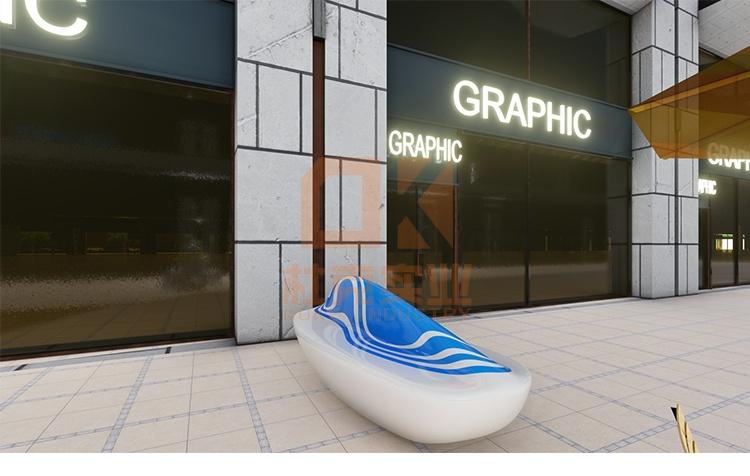 玻璃钢海洋流线座椅