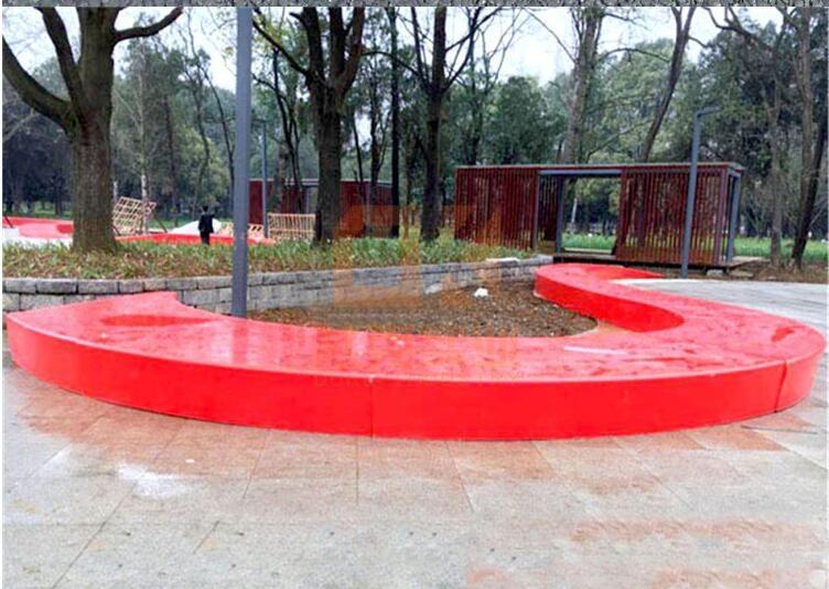 玻璃钢异形树池坐凳