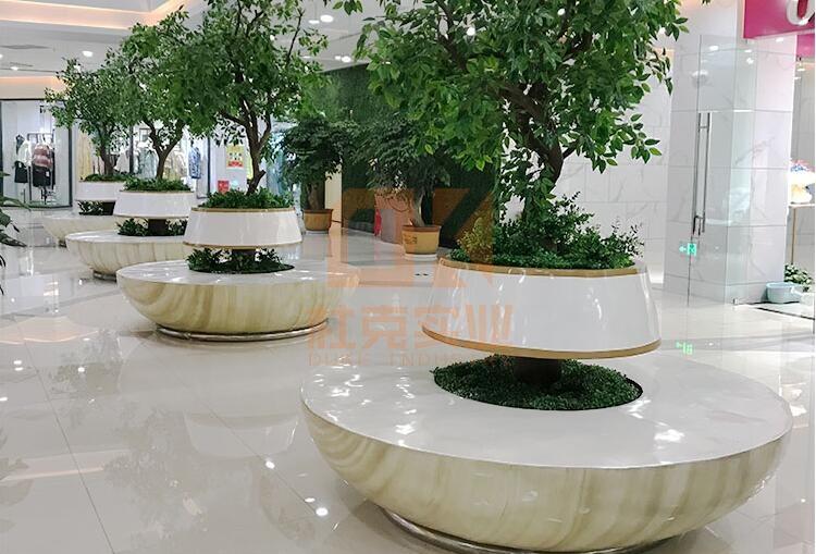 玻璃钢树池休闲椅