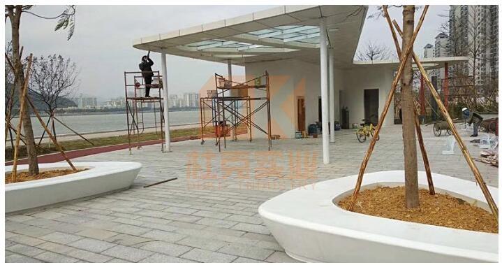 玻璃钢艺术花坛树池