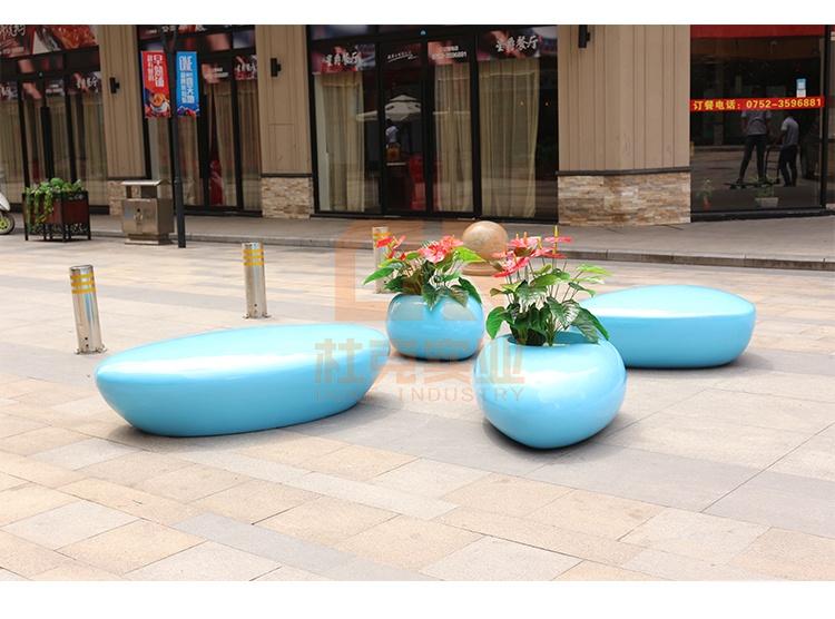 玻璃钢水滴花盆座椅