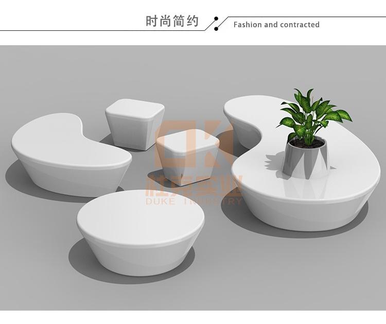玻璃钢设计款花盆座椅