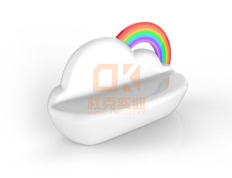 创意彩虹云朵座椅,商业办公家具定制首选!