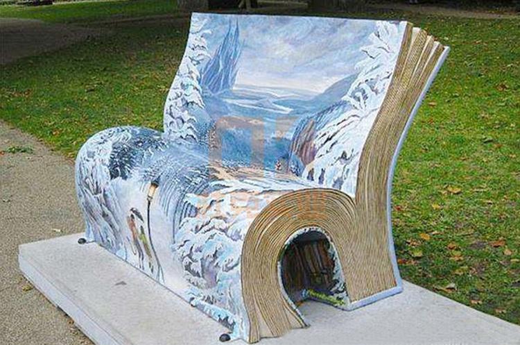 玻璃钢书本造型创意坐凳