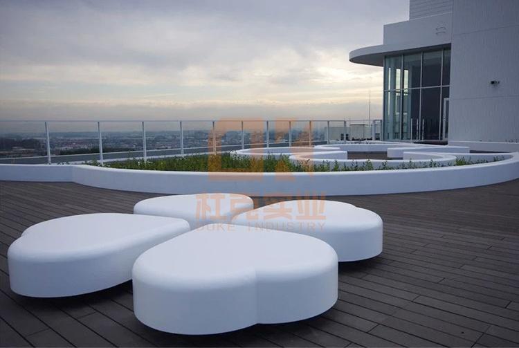 户外玻璃钢四叶草坐凳