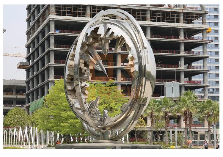 不锈钢地标雕塑