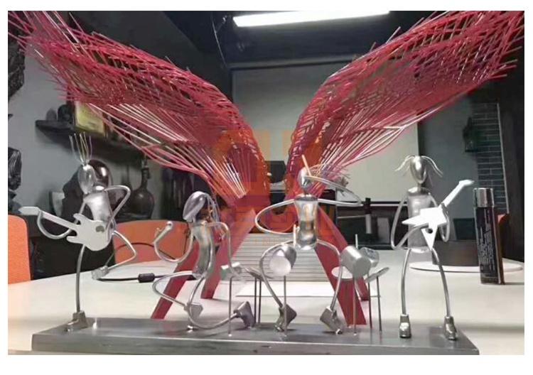 不锈钢乐队雕塑