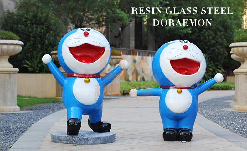 玻璃钢叮当猫卡通雕塑,童年的陪伴!