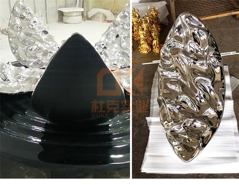 玻璃钢电镀花瓣雕塑