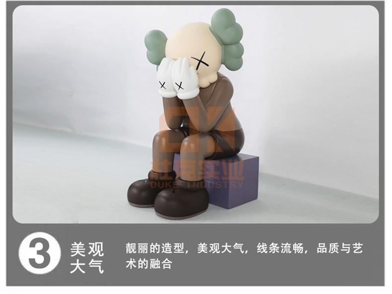 玻璃钢网红暴力熊雕塑
