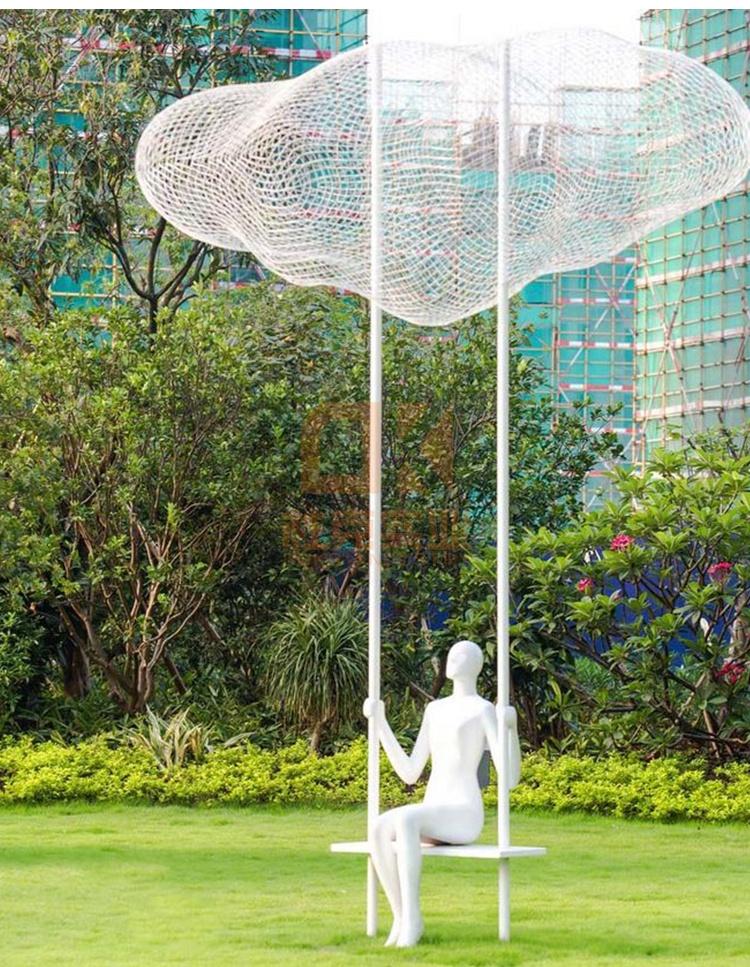 玻璃钢公园人物雕塑,2020年都喜欢这些公园人物雕塑!