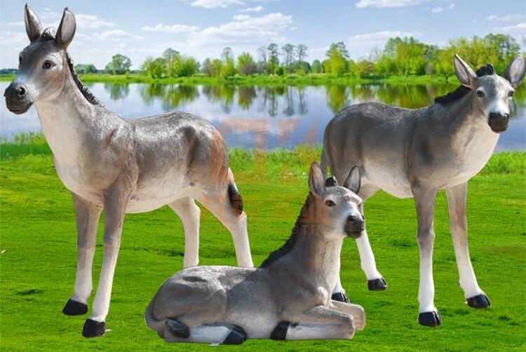 仿真毛驴玻璃钢雕塑,灵感来源!