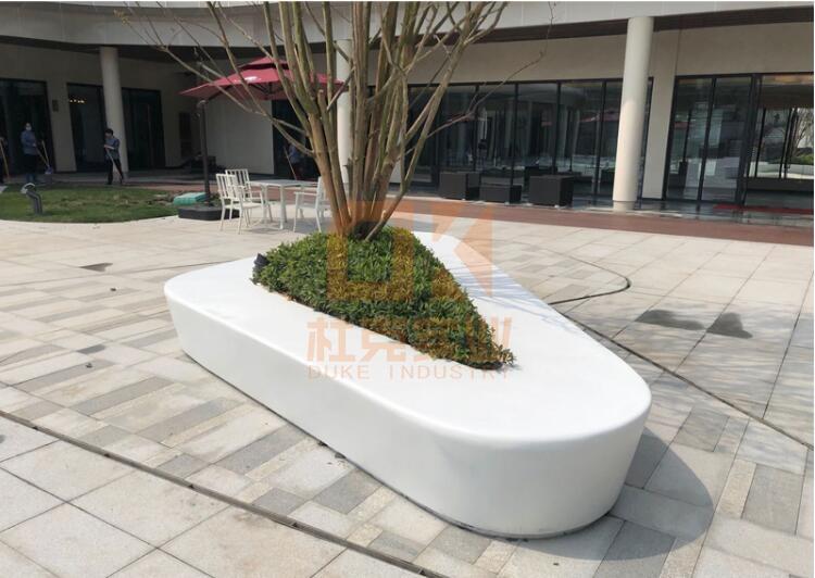 三角形玻璃钢树池坐凳
