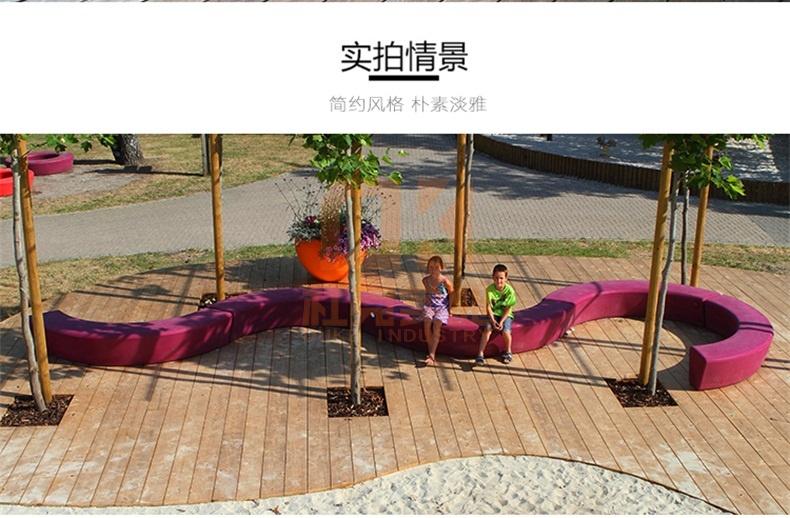 玻璃钢长条树池坐凳