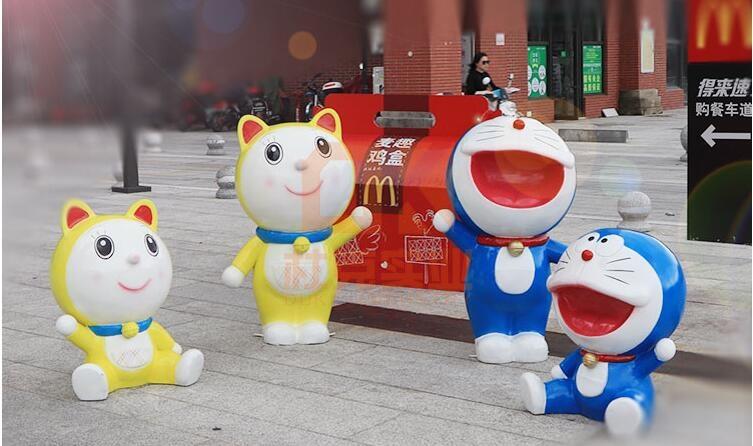 哆啦A梦玻璃钢雕塑,可爱的叮当猫来了!