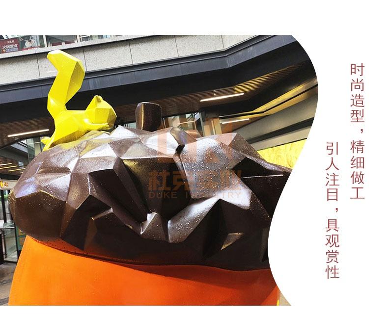 松鼠坚果玻璃钢雕塑