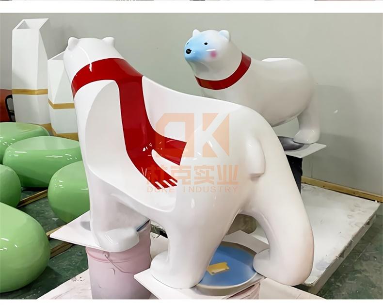 北极熊玻璃钢座椅
