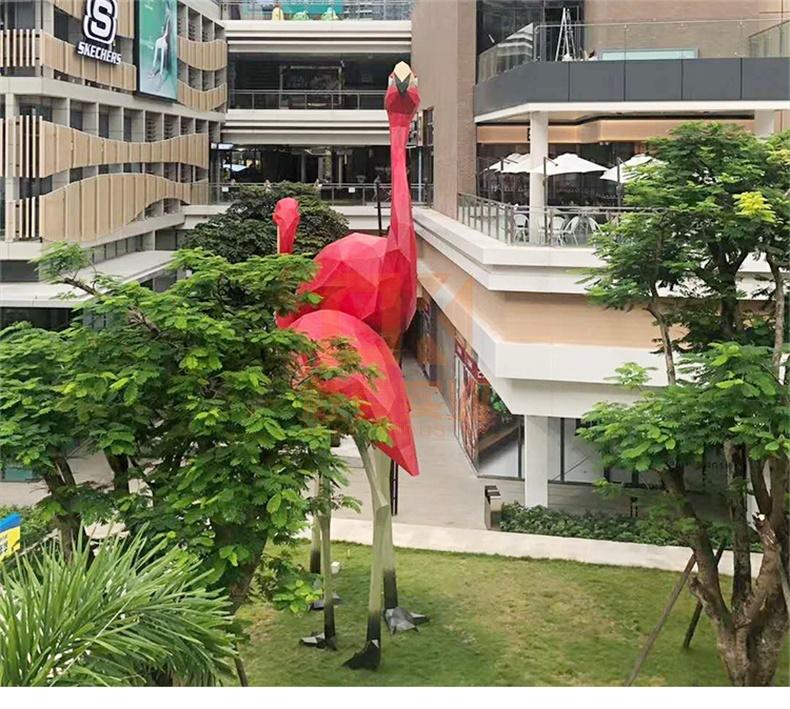 火烈鸟玻璃钢雕塑