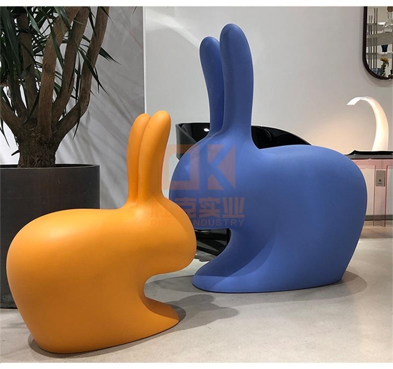 玻璃钢兔子椅