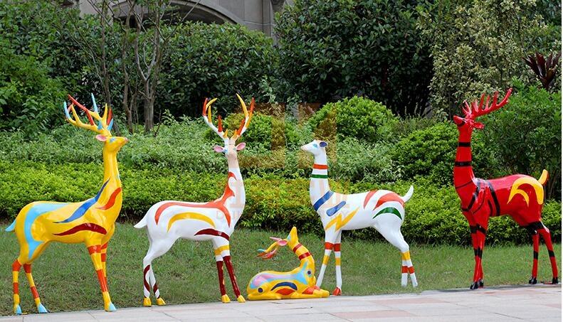 玻璃钢鹿雕塑摆件,2020年最受欢迎的雕塑摆件!